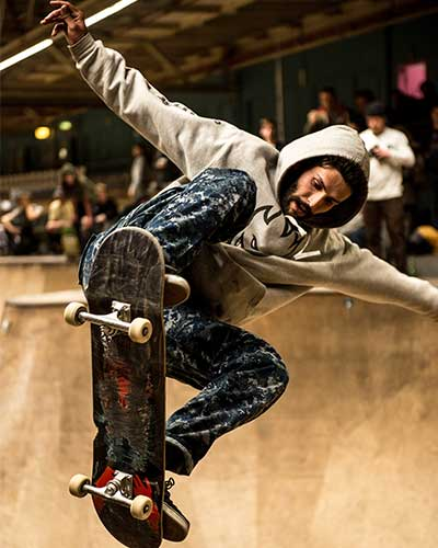 Skateboarder represents agile solutions