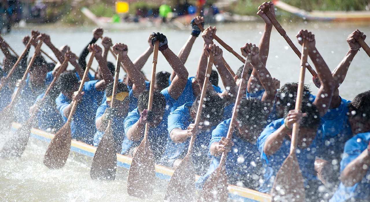 header, rowing team with blue shirts represents our highly skilled teams