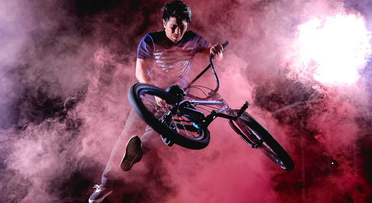 header, BMX cyclist represents the digital transformation more securely, swiftly, and agilely